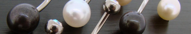 Acheter des piercings de nombril avec perles de culture de fabrication française