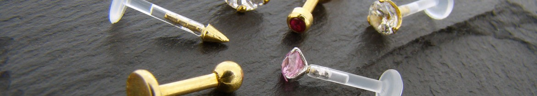 Acheter des piercings en or massif